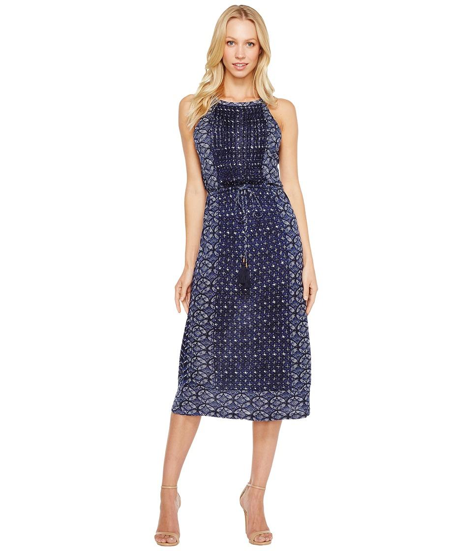 Lucky Brand Printed Knit Dress (Blue Multi) Women