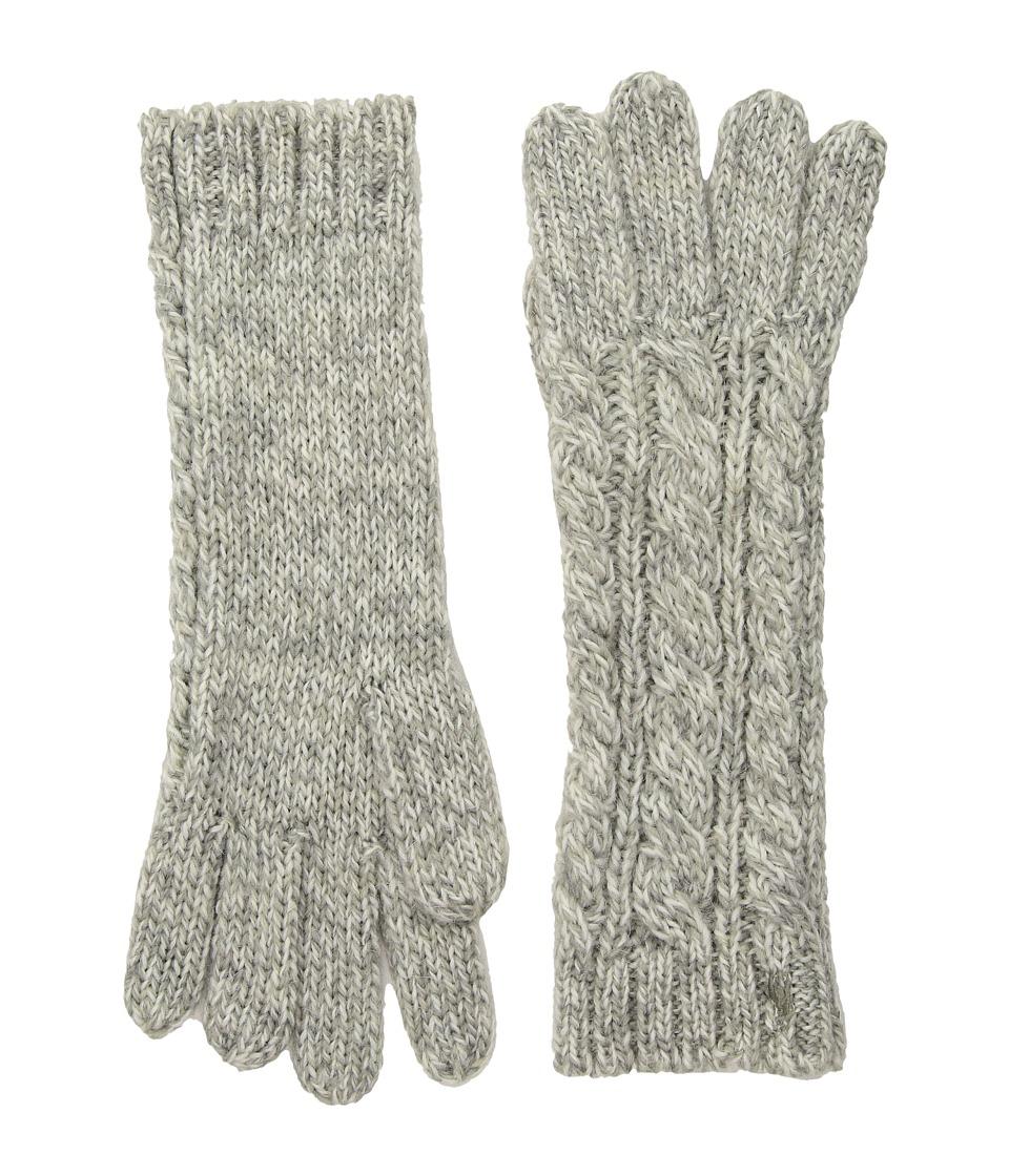 Polo Ralph Lauren Alpaca Classic Aran Gloves (Light Vintage Marl) Wool Gloves