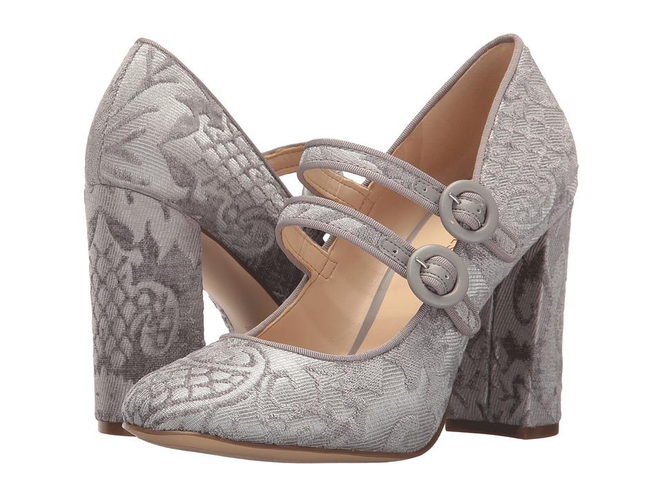 Nine West Dabney (Light Grey/Light Grey Fabric) High Heels