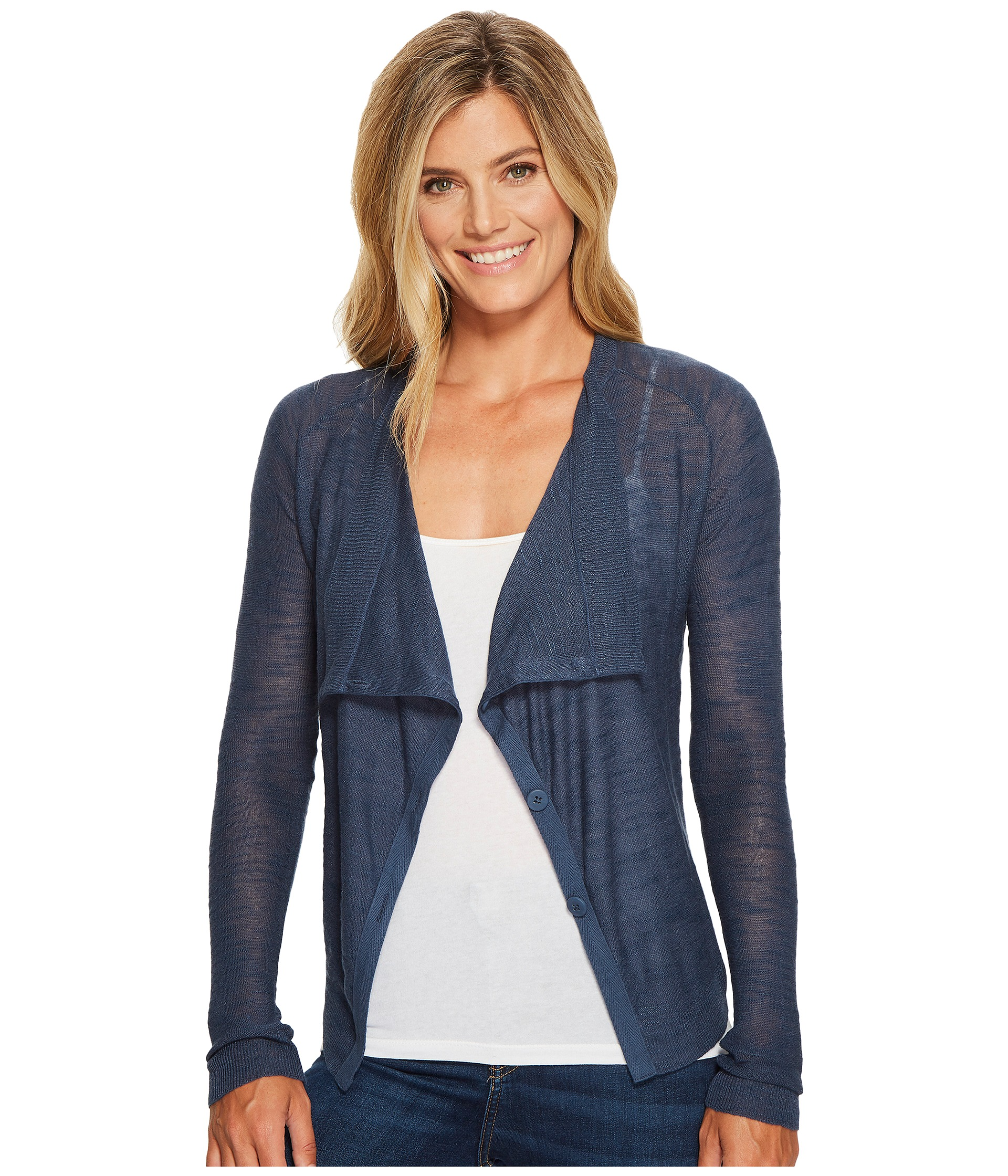Lucky Brand Linen Drape Cardigan Sweater At Zappos.com