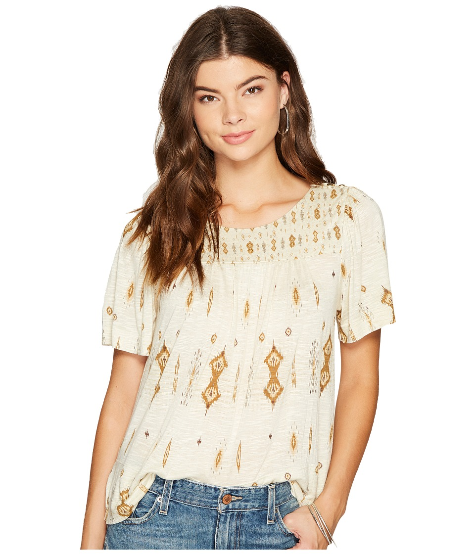 Lucky Brand - Printed Top (Natural Multi) Womens Clothing