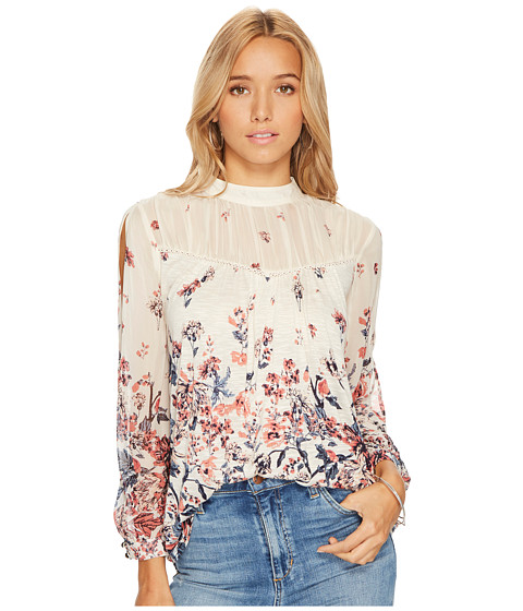 Lucky Brand Floral Mixed Print Top