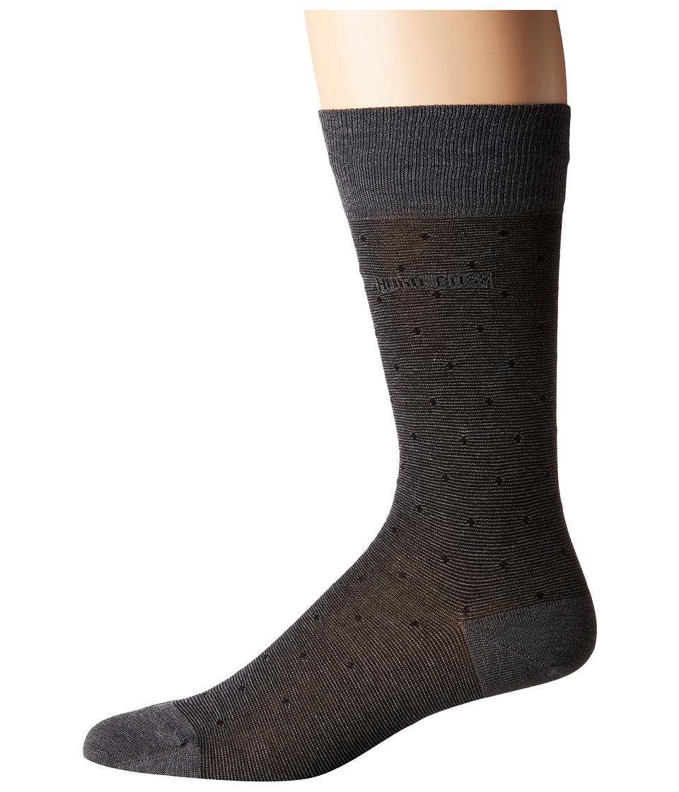 BOSS Hugo Boss - Paul Design Dots US (Black) Mens Crew Cut Socks Shoes