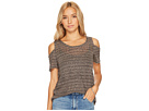 Lucky Brand - Stripe Cold Shoulder Top