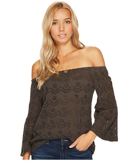 Lucky Brand Washed Off the Shoulder Top