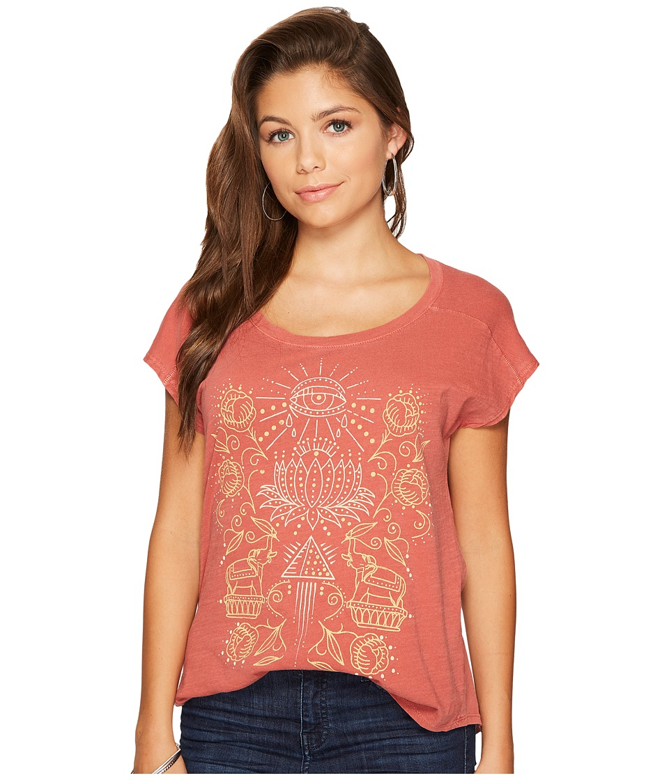 Lucky Brand Spiritual Tee (Earth Red) Women