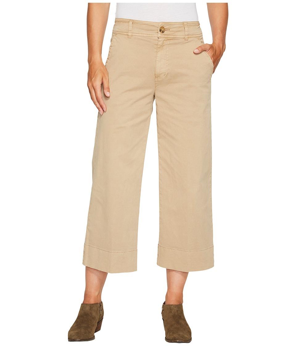 Lucky Brand Wide Leg Crop Pants in Khaki (Khaki) Women