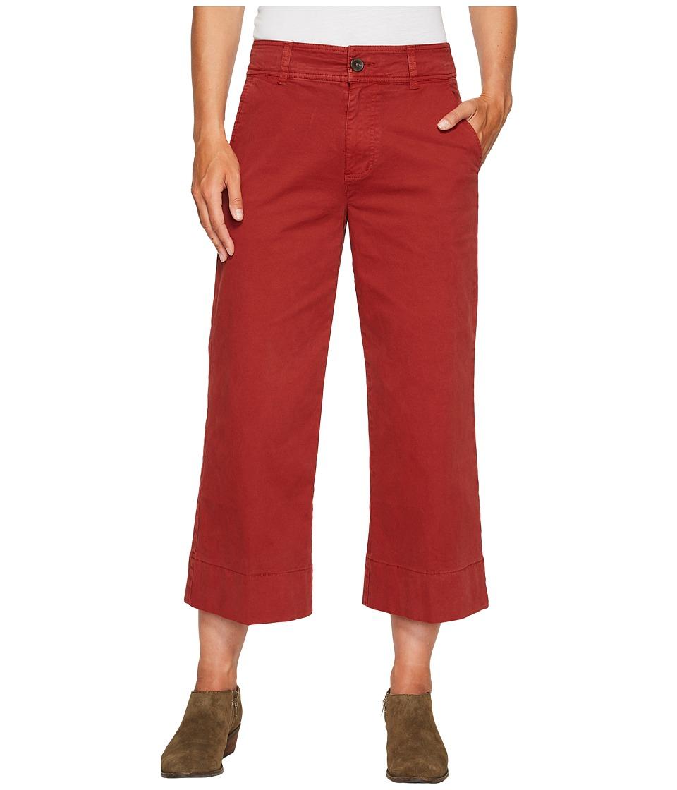 Lucky Brand Wide Leg Crop Pants in Rich Sienna (Rich Sienna) Women