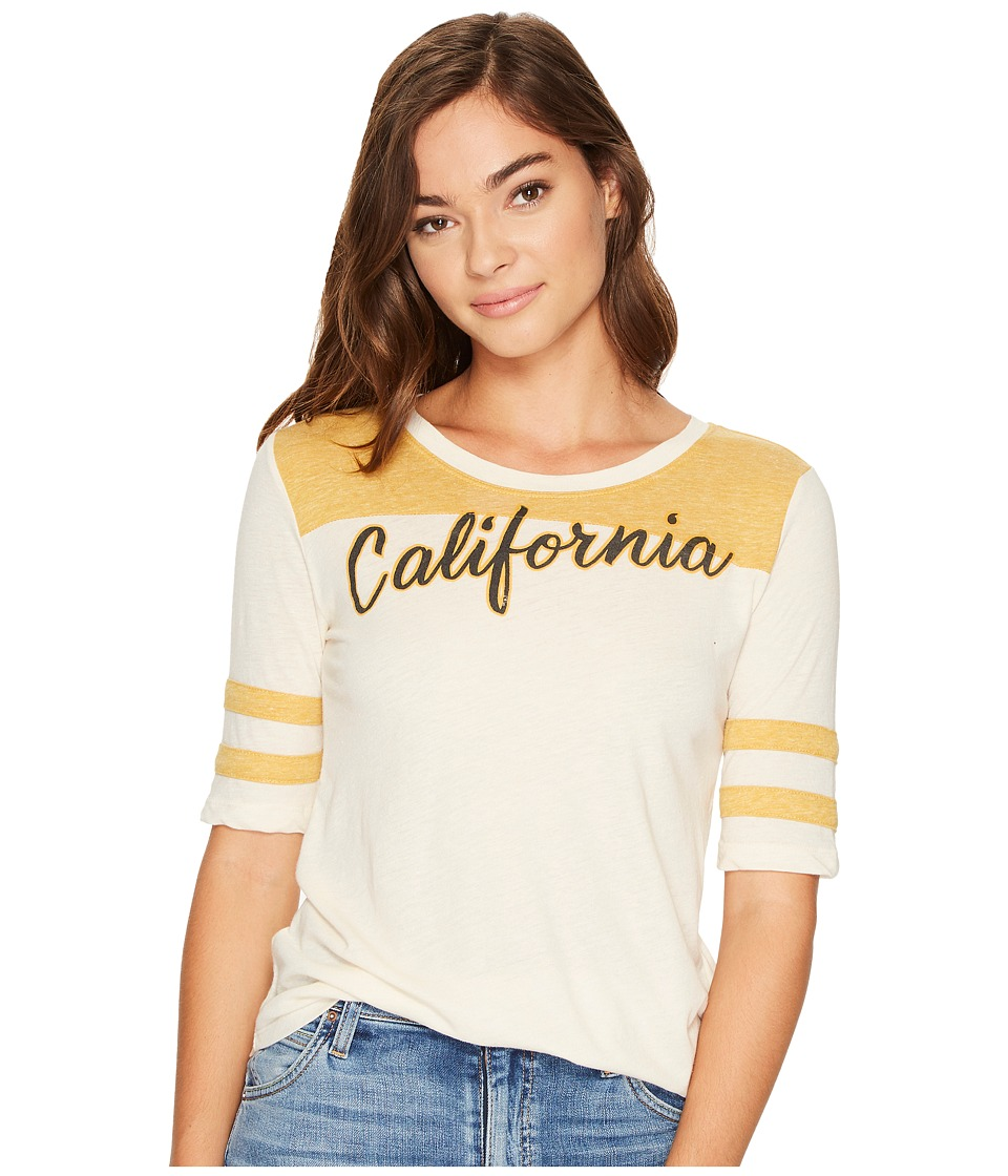 Lucky Brand California Football Tee (Yellow Multi) Women