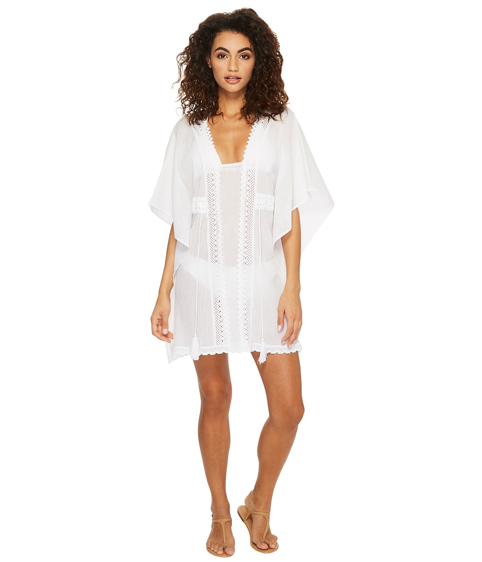 Jantzen - Crochet Tunic Cover-Up (White) Womens Swimwear
