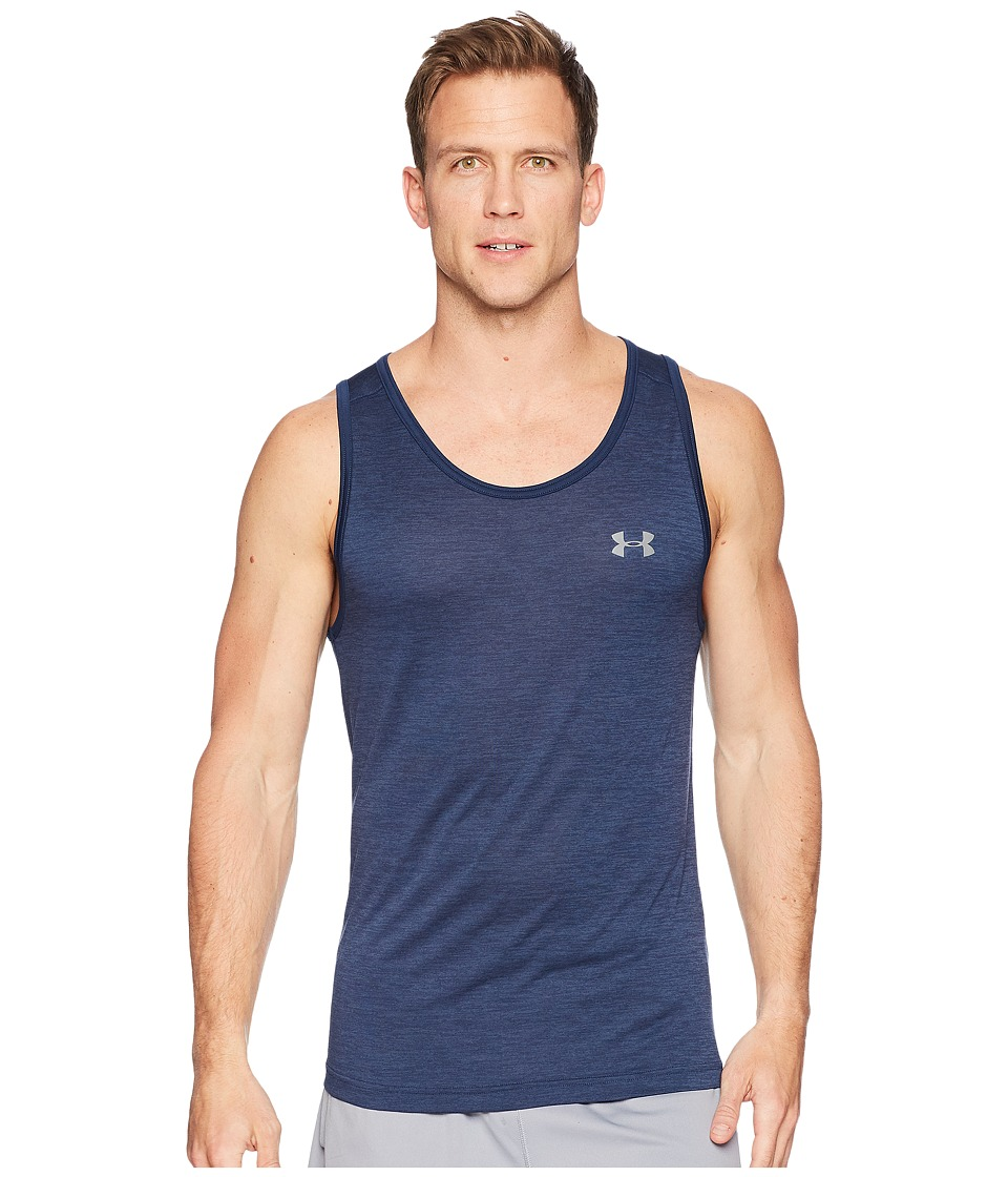 Under Armour - Techtm Tank (Academy/Academy/Graphite) Mens Workout