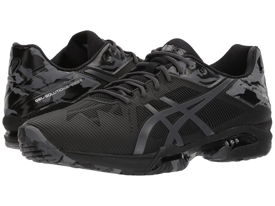 ASICS - Gel-Solution(r) Speed 3 L.E. (Black/Dark Grey/Phantom) Mens Cross Training Shoes