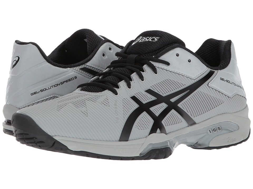 ASICS - Gel-Solution(r) Speed 3 (Mid Grey/Black) Mens Tennis Shoes