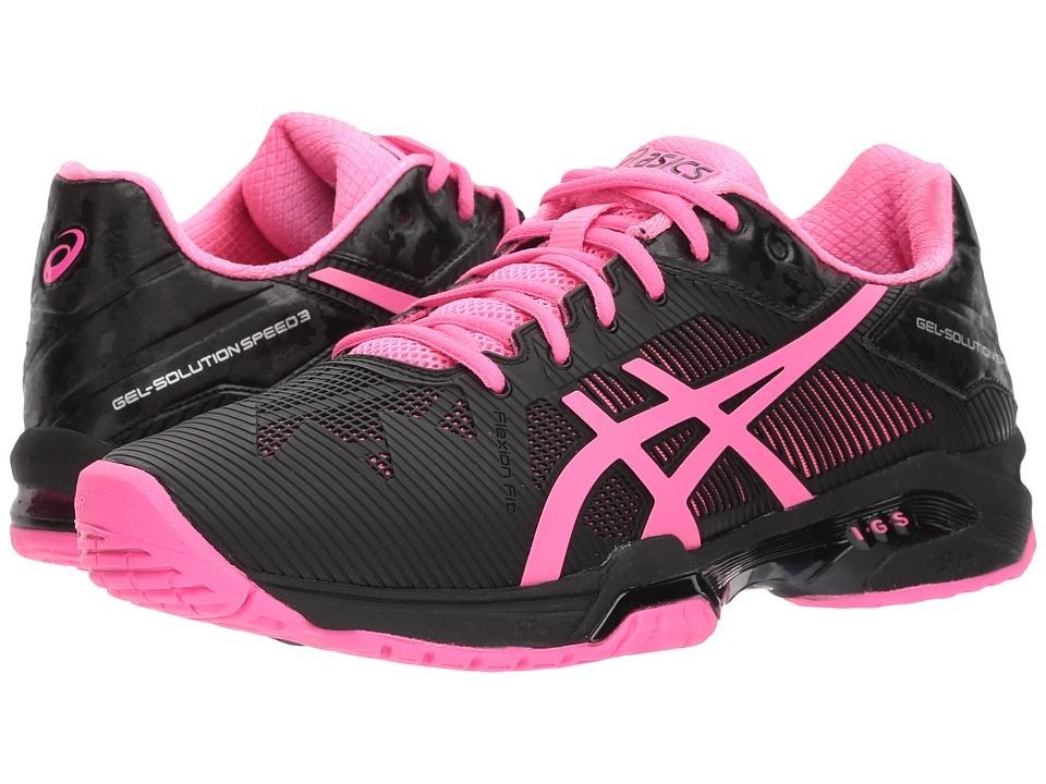 Asics Gel-Solution(r) Speed 3 (Black/Hot Pink/Silver) Wom...