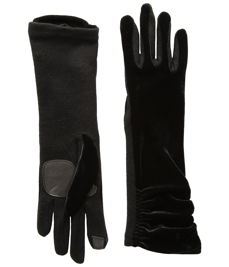 Echo Design Long Classic Velvet Gloves (Black) Dress Gloves
