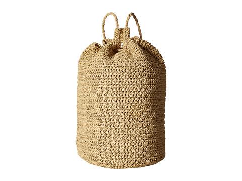 Hat Attack Drawstring Backpack - Natural