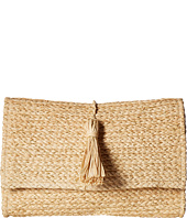 Hat Attack - Metallic Raffia Clutch w/ Tassel