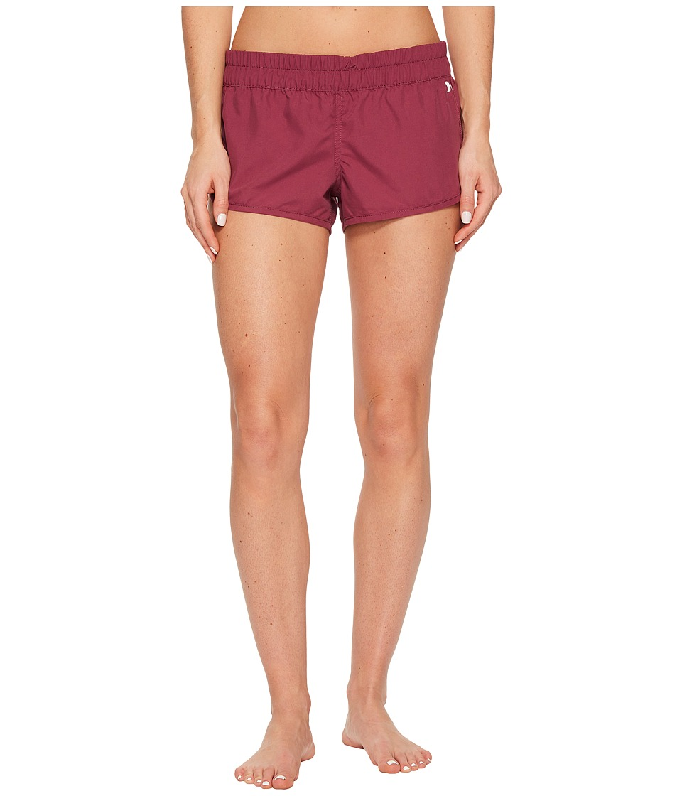 Hurley Supersuede Solid Beachrider Bottoms (Teaberry) Women