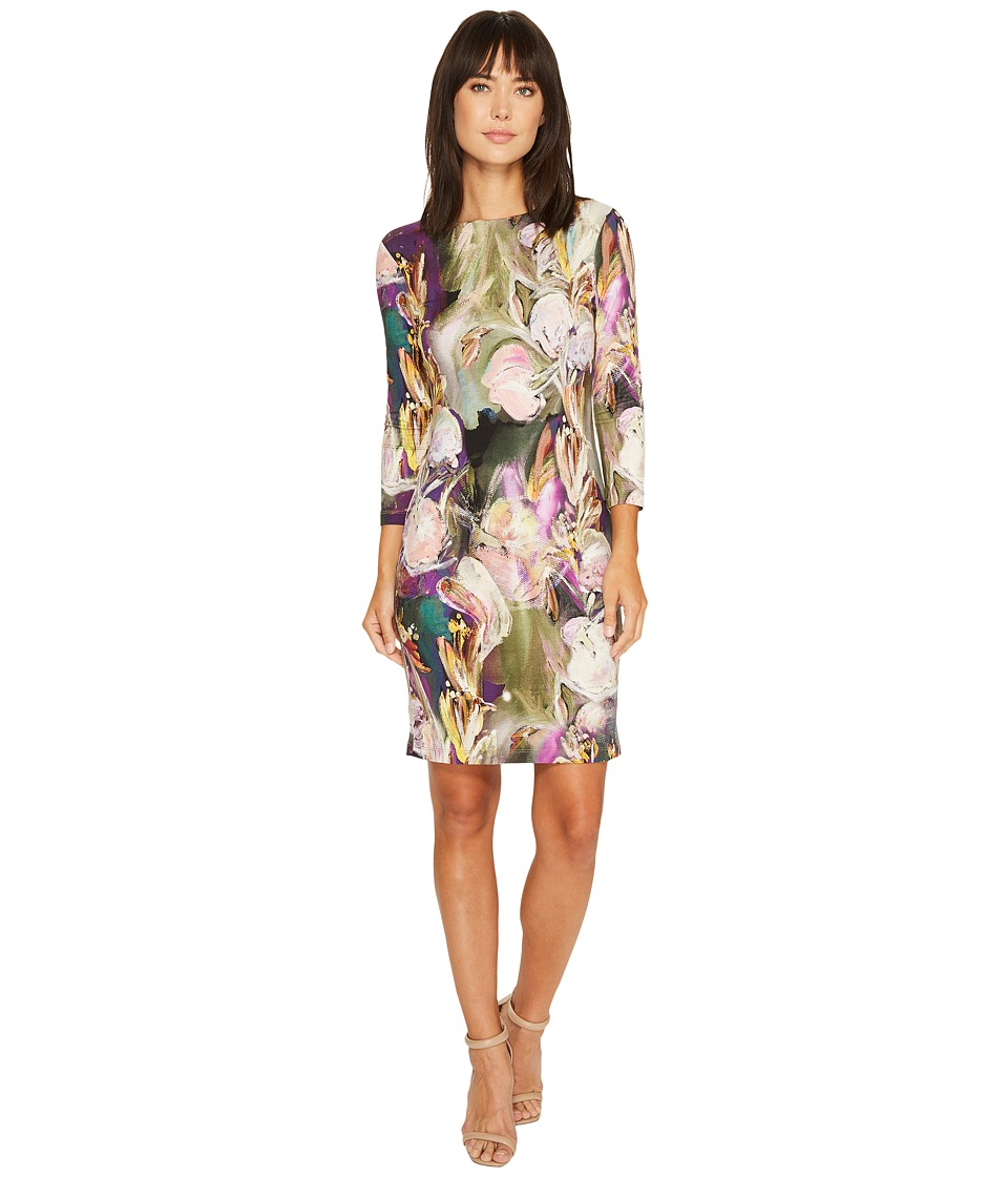 Karen Kane Painted Floral Sheath Dress (Print) Women