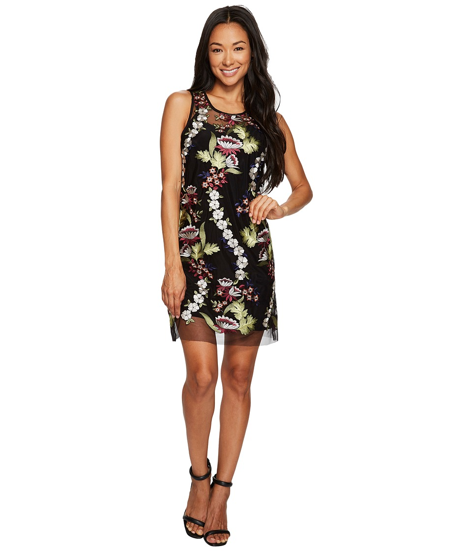 Karen Kane Embroidered Net Dress (Multi) Women