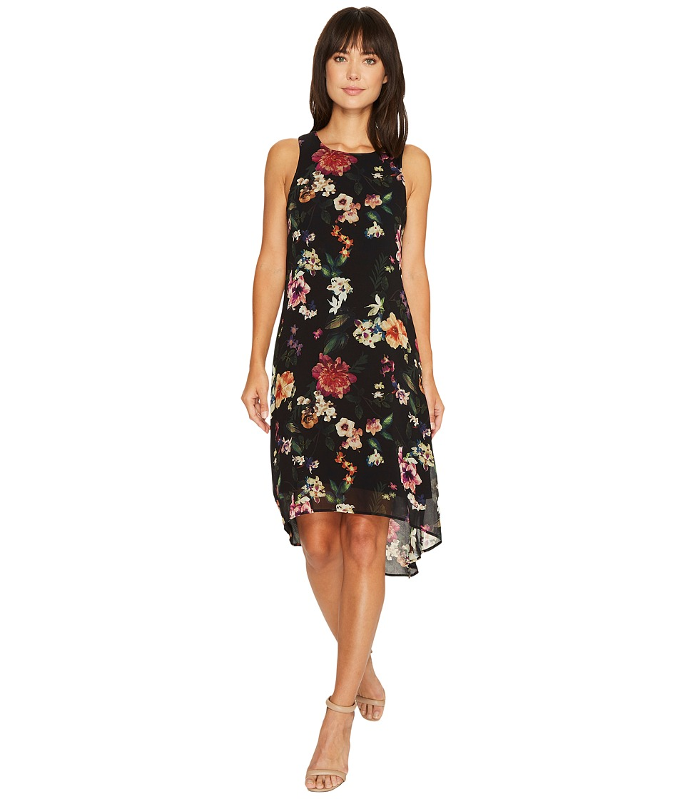 Karen Kane Floral High-Low Hem Dress (Print) Women