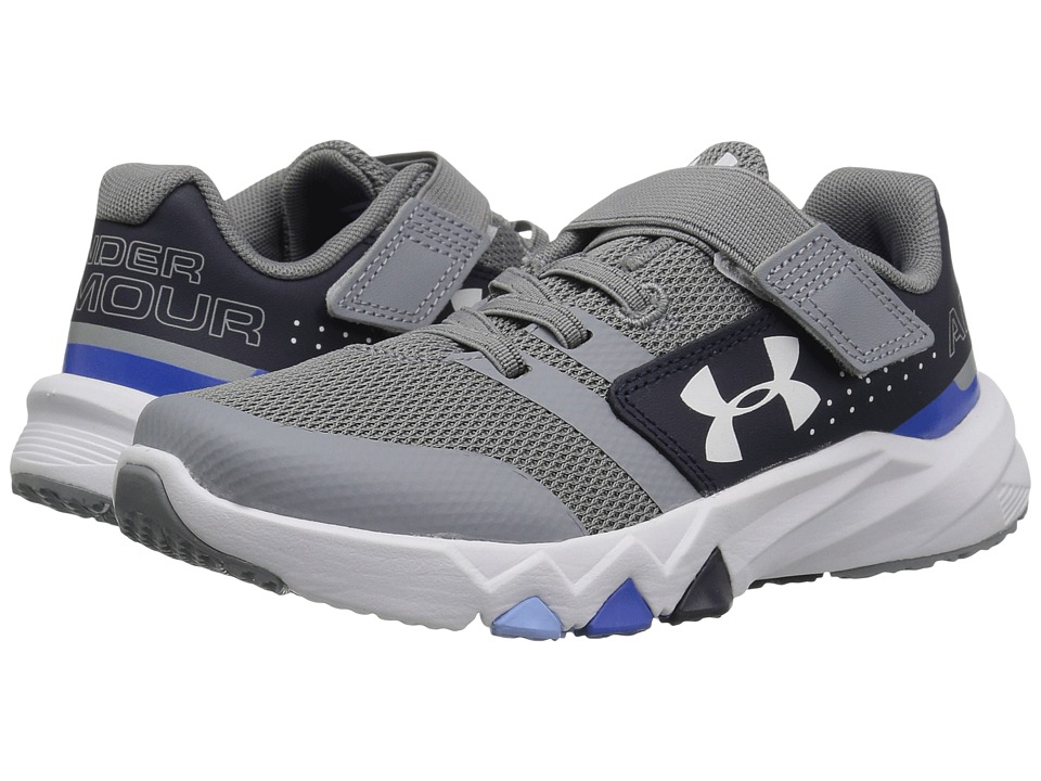 Under Armour Kids UA BPS Primed AC (Little Kid) (Steel/Midnight Navy/White) Boys Shoes