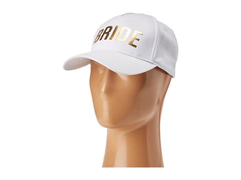 Betsey Johnson Blue By Betsey Johnson Bride Baseball Hat - White