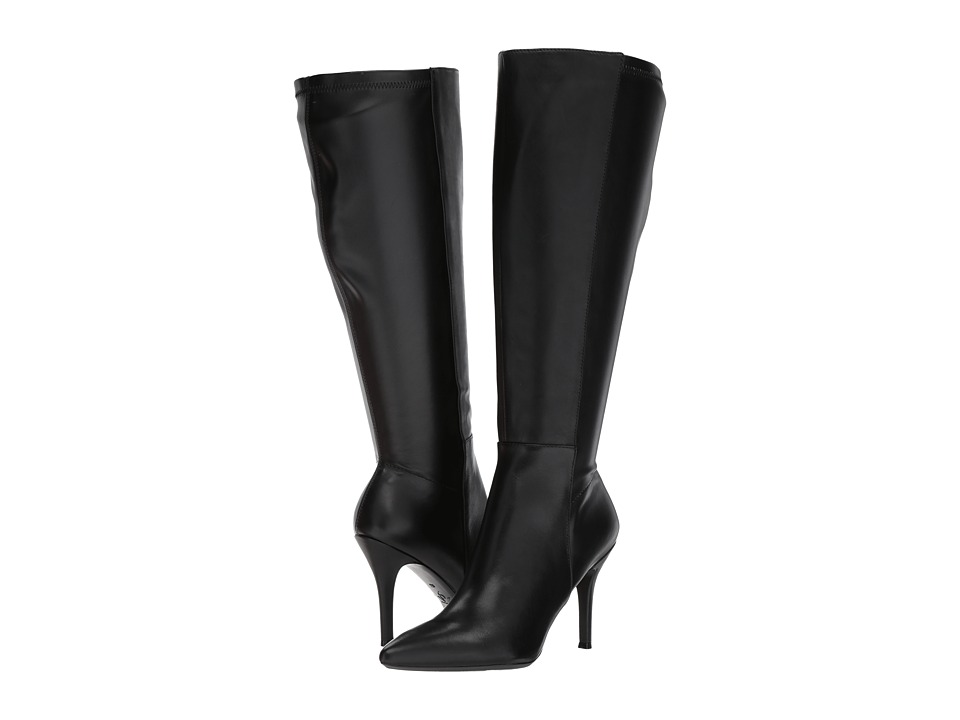 Nine West Fallon-Wide Shaft (Black Leather) Women