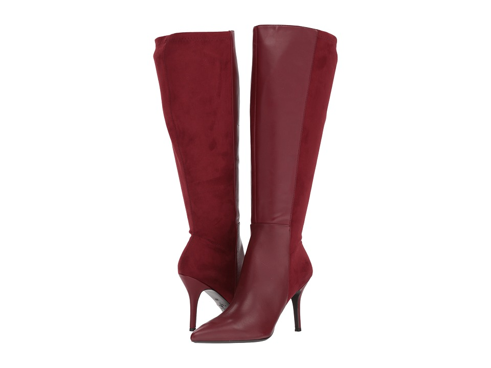 Nine West Fallon-Wide Shaft (Wine Leather) Women