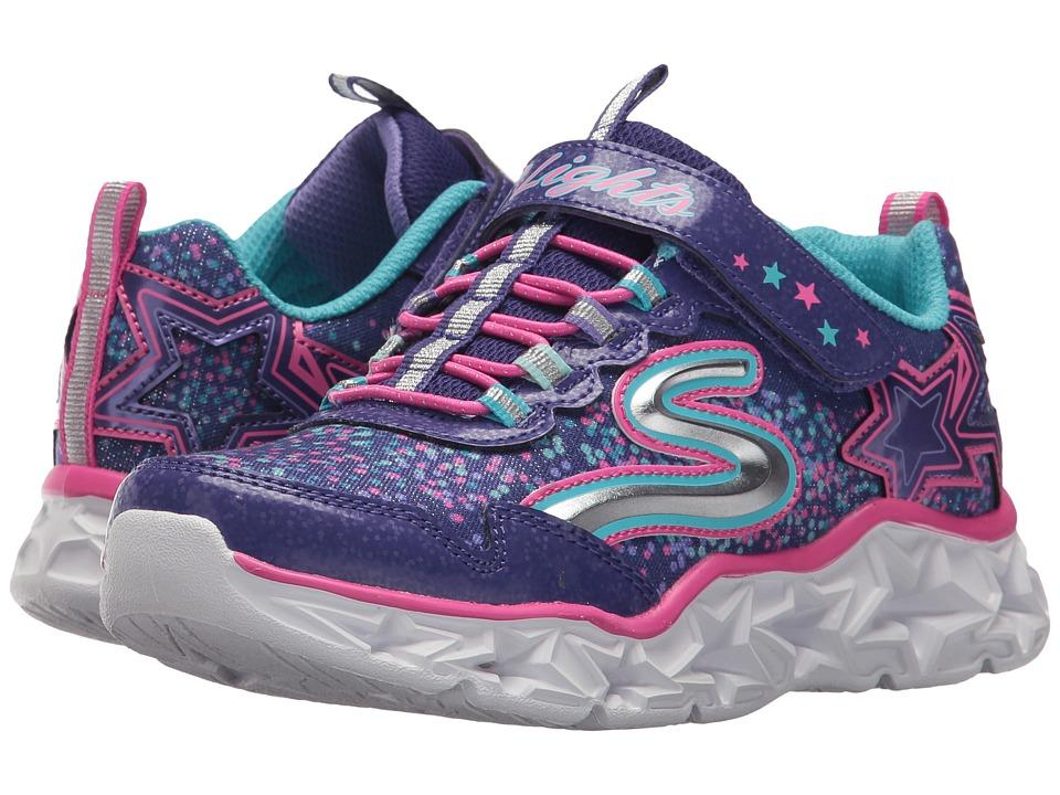 SKECHERS KIDS Galaxy Lights 10920L (Little Kid/Big Kid) (Purple/Multi) Girl's Shoes