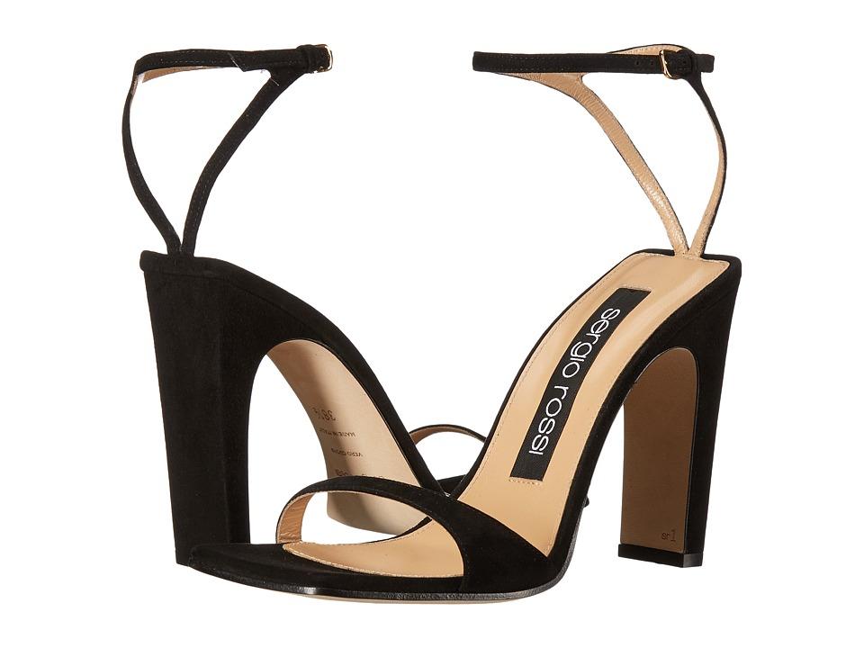 Sergio Rossi A77971-MCAZ01 (Black Suede) High Heels