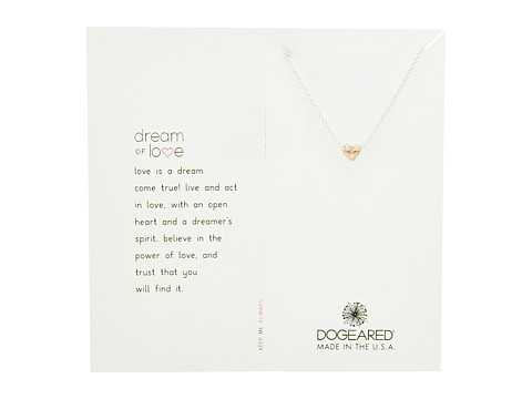 Dogeared Dream of Love, Heart Charm, Chain Necklace - Rose Gold/Silver