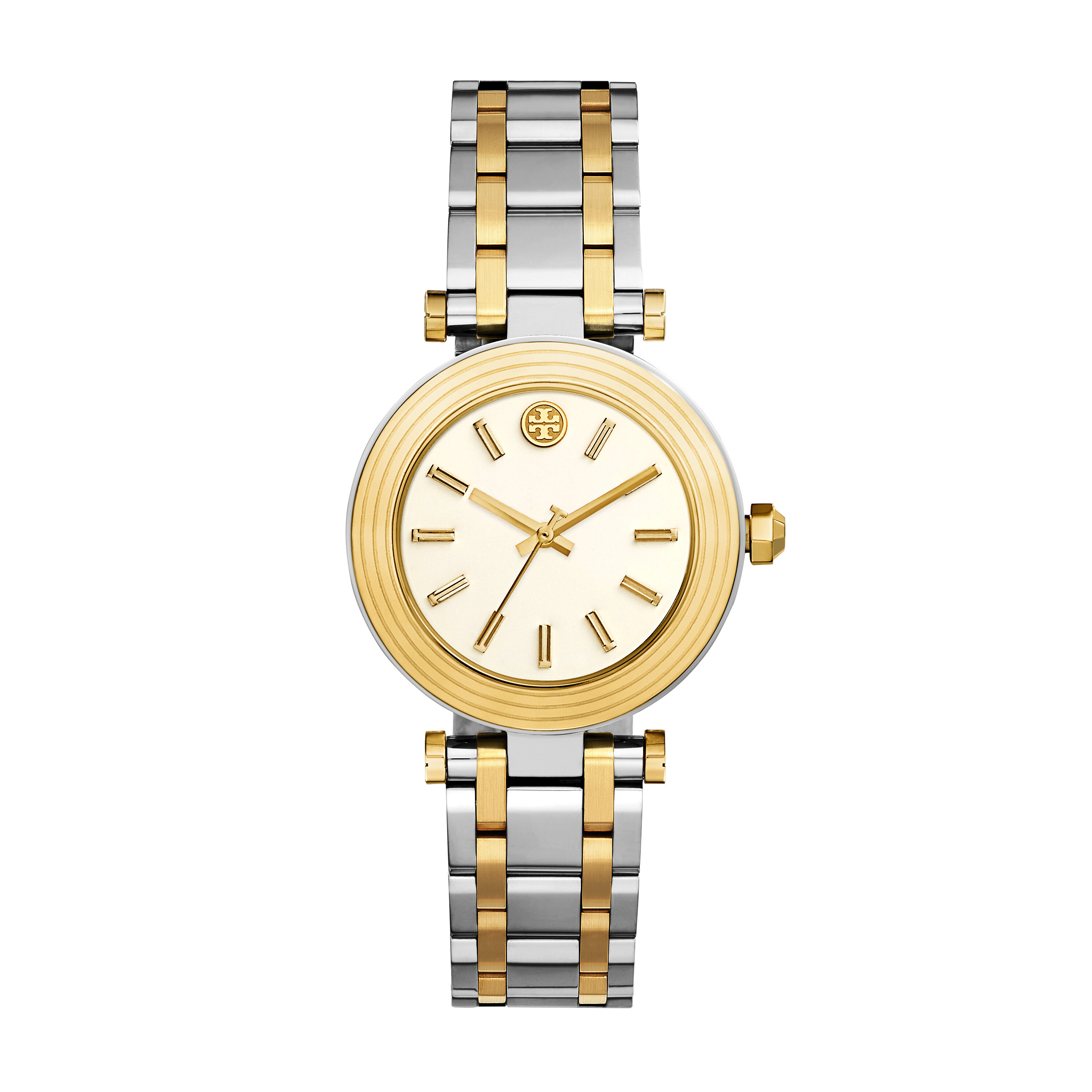 Tory Burch Classic T - TBW9005 - Two-Tone Silver/Gold
