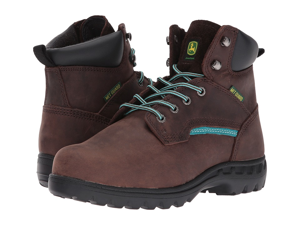 John Deere 6 Internal Metatarsal Lace Up Boot (Gaucho/Turquoise) Women's Work Boots