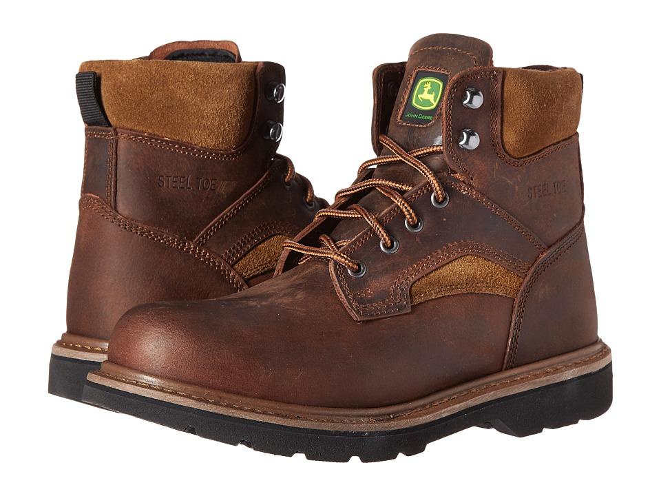 John Deere 6 Steel Toe Boot (Gaucho Brown) Men's Work Boots