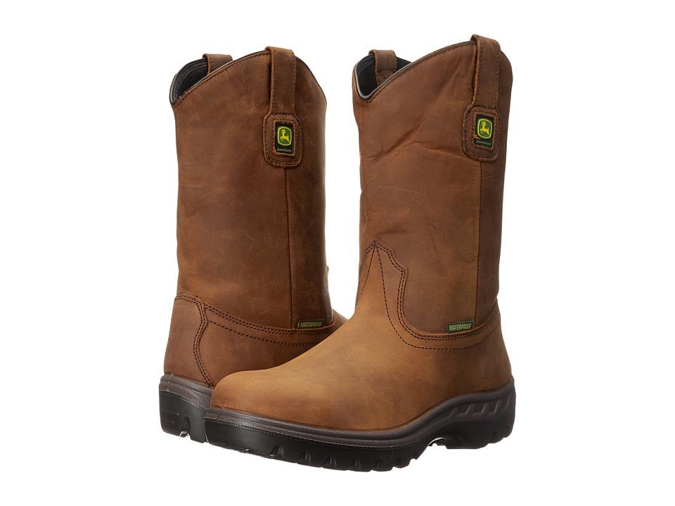 John Deere - WCT Waterproof 11 Pull-On ST (Tan Tamper) Men's Work Boots