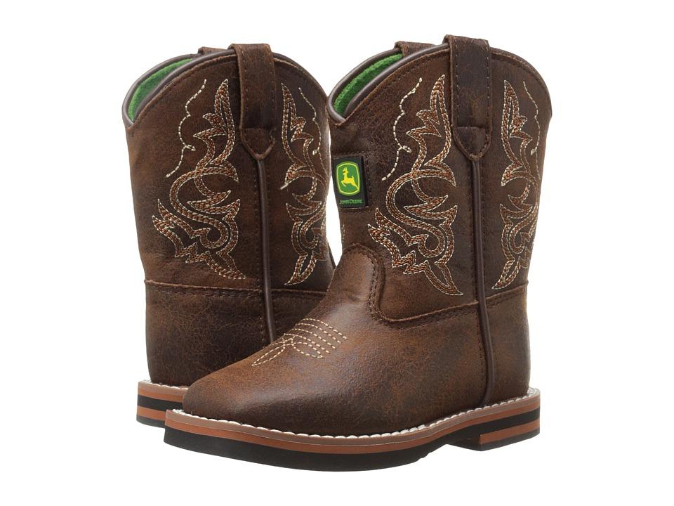 John Deere - Everyday Broad Square Toe (Toddler) (Rust) Men's Work Boots