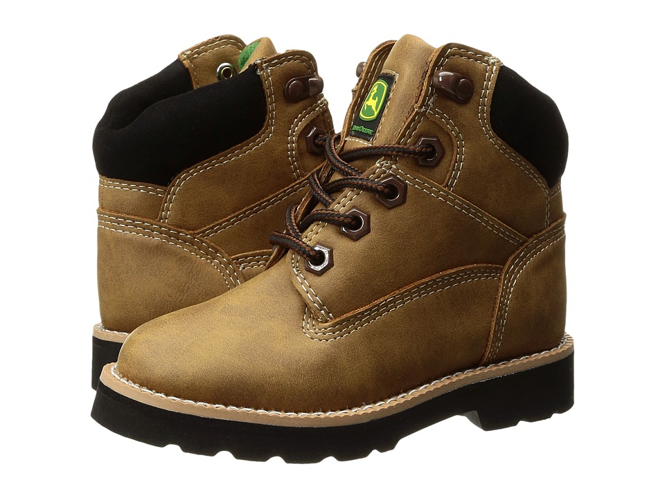 John Deere Everyday Round Toe Lace-Up (Toddler/Little Kid) (Tan) Men's Work Boots
