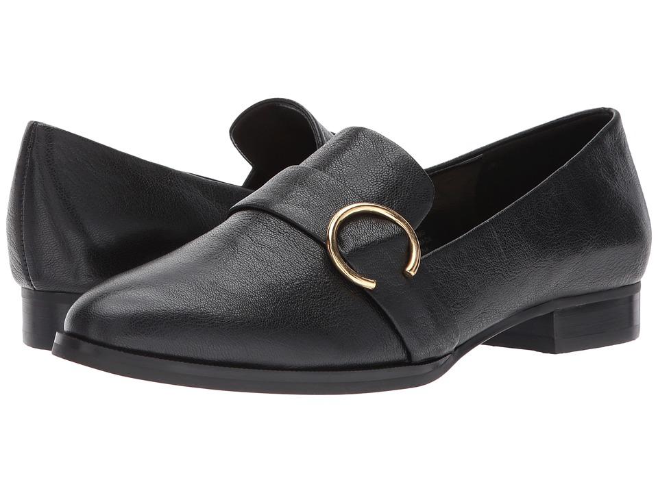 Nine West - Huff (Black Leather) Womens Slip on  Shoes