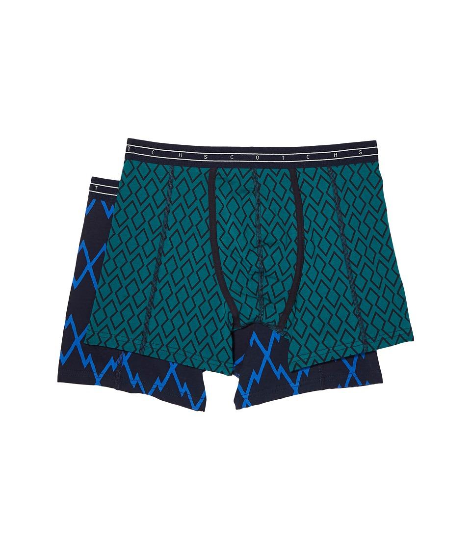 Scotch & Soda Classic Boxer Shorts with Multicolour All Over Print (Combo F) Men