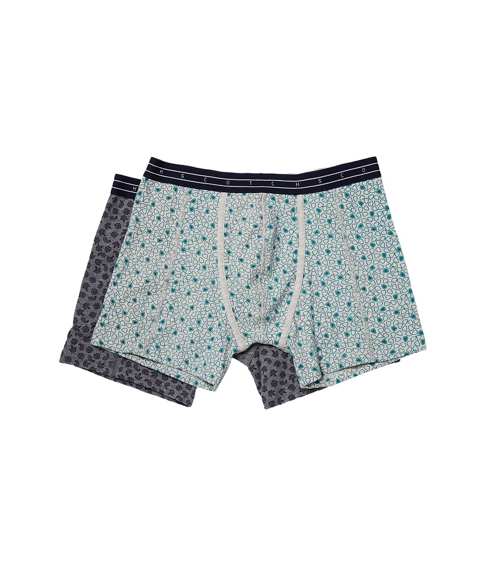 Scotch & Soda Boxer Shorts with All Over Print on Melange Base (Combo C) Men