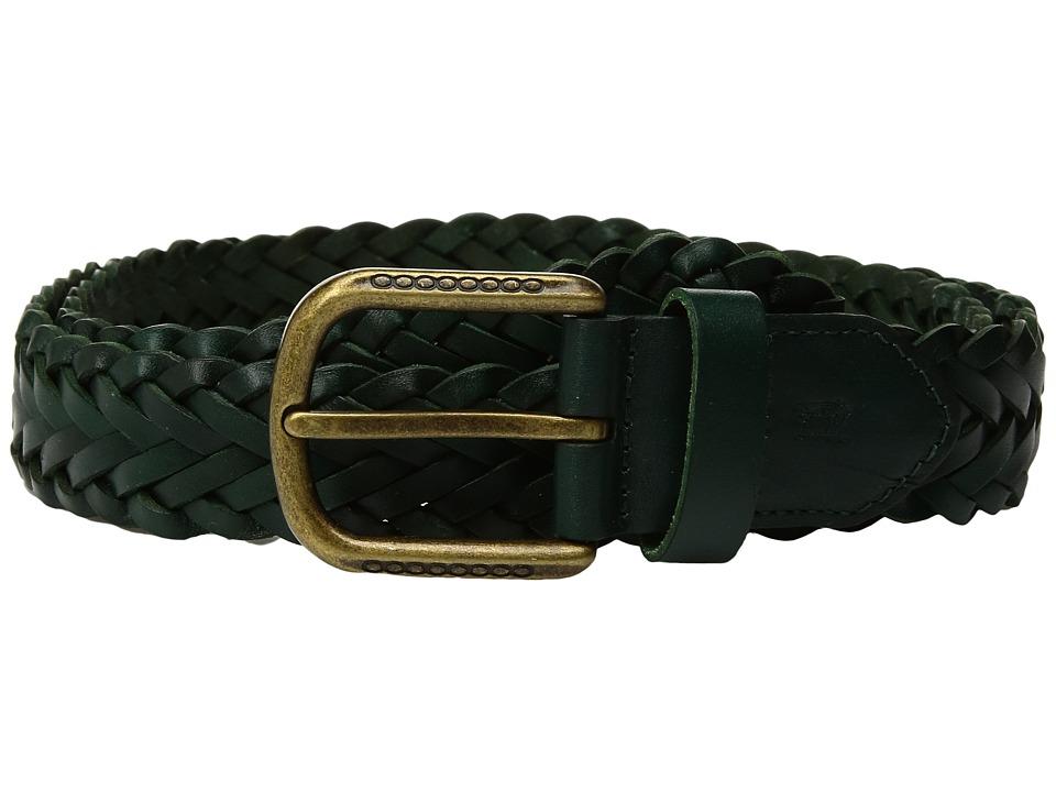 Scotch & Soda Classic Braided Leather Belt (Bottle Green) Men