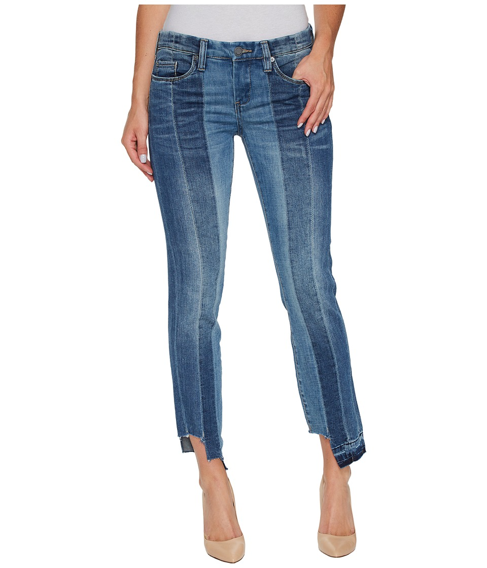 Blank NYC Novelty Denim Skinny with Seaming Detail Contrast of Denim Washes in High and Low (High and Low) Women