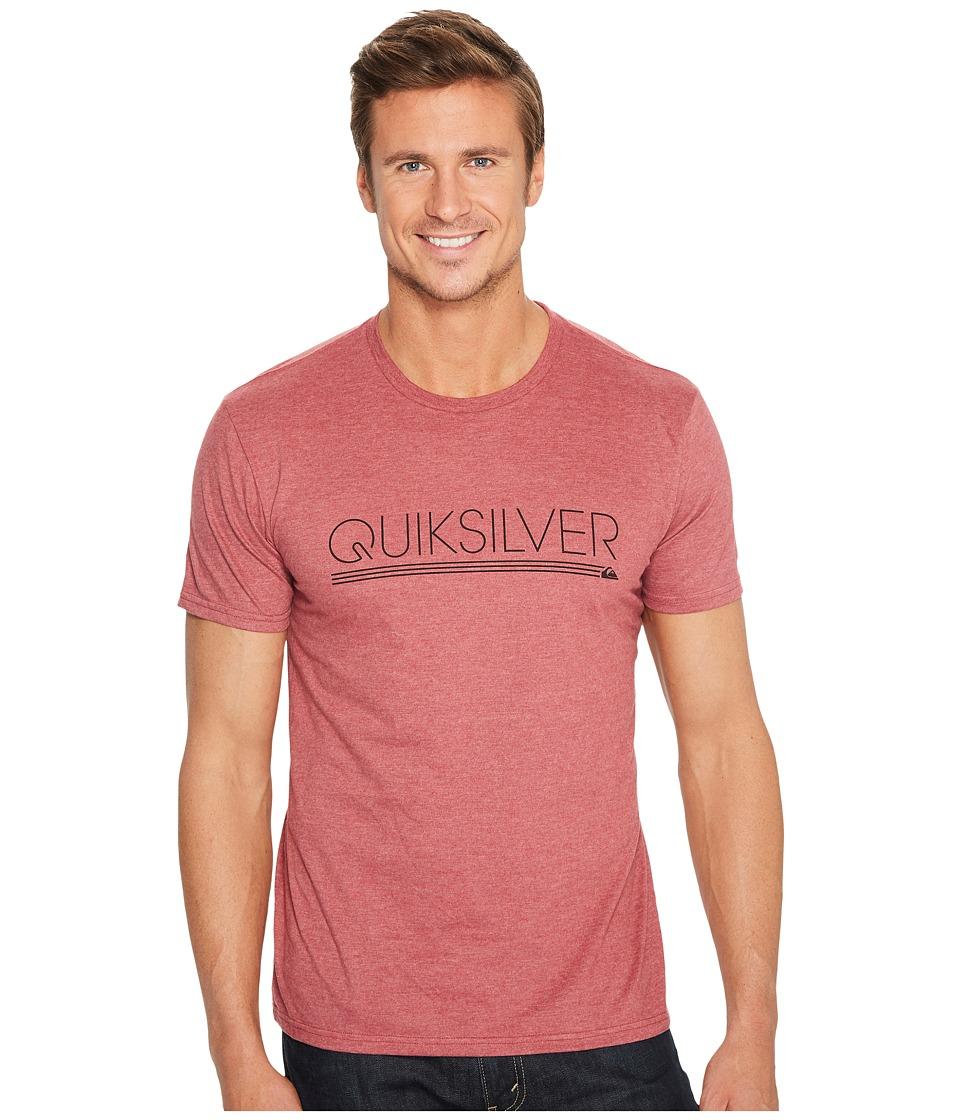 Quiksilver Thin Mark Tee Shirt (Pomegranate Heather) Men