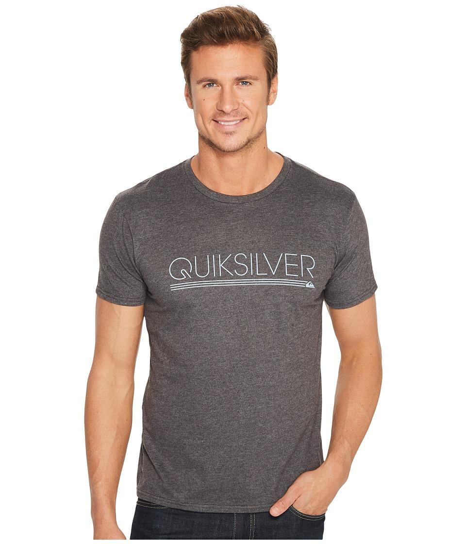 Quiksilver Thin Mark Tee Shirt (Charcoal Heather) Men