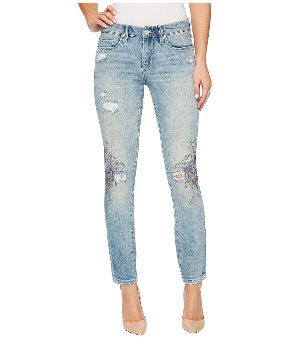 Blank NYC Floral Detail Distressed Skinny in Going Digital (Going Digital) Women