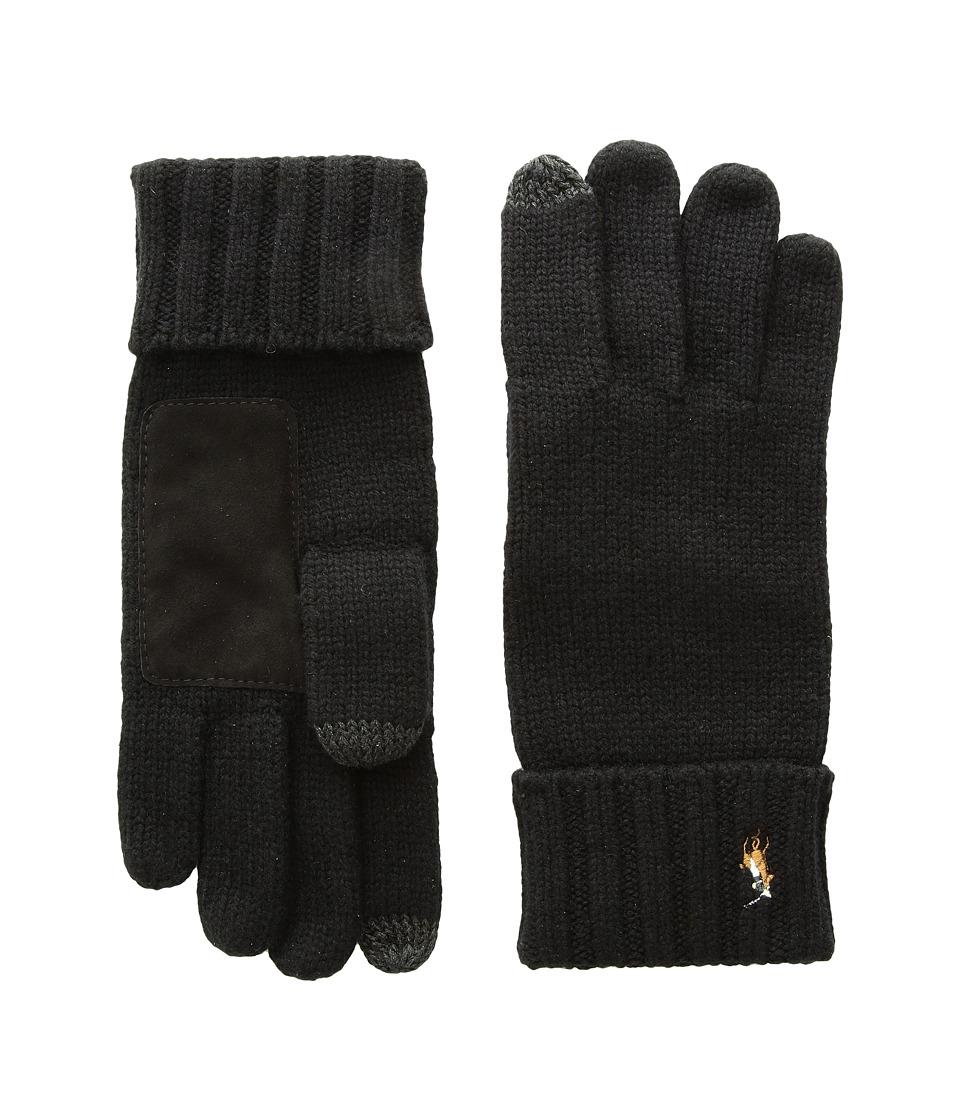 Polo Ralph Lauren Signature Merino Touch Gloves (Polo Black) Wool Gloves