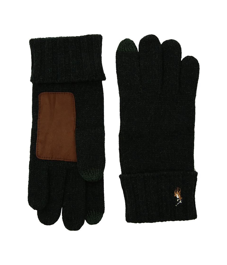 Polo Ralph Lauren Signature Merino Touch Gloves (Black Pine) Wool Gloves