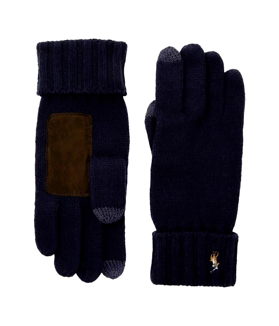 Polo Ralph Lauren Signature Merino Touch Gloves (Hunter Navy) Wool Gloves