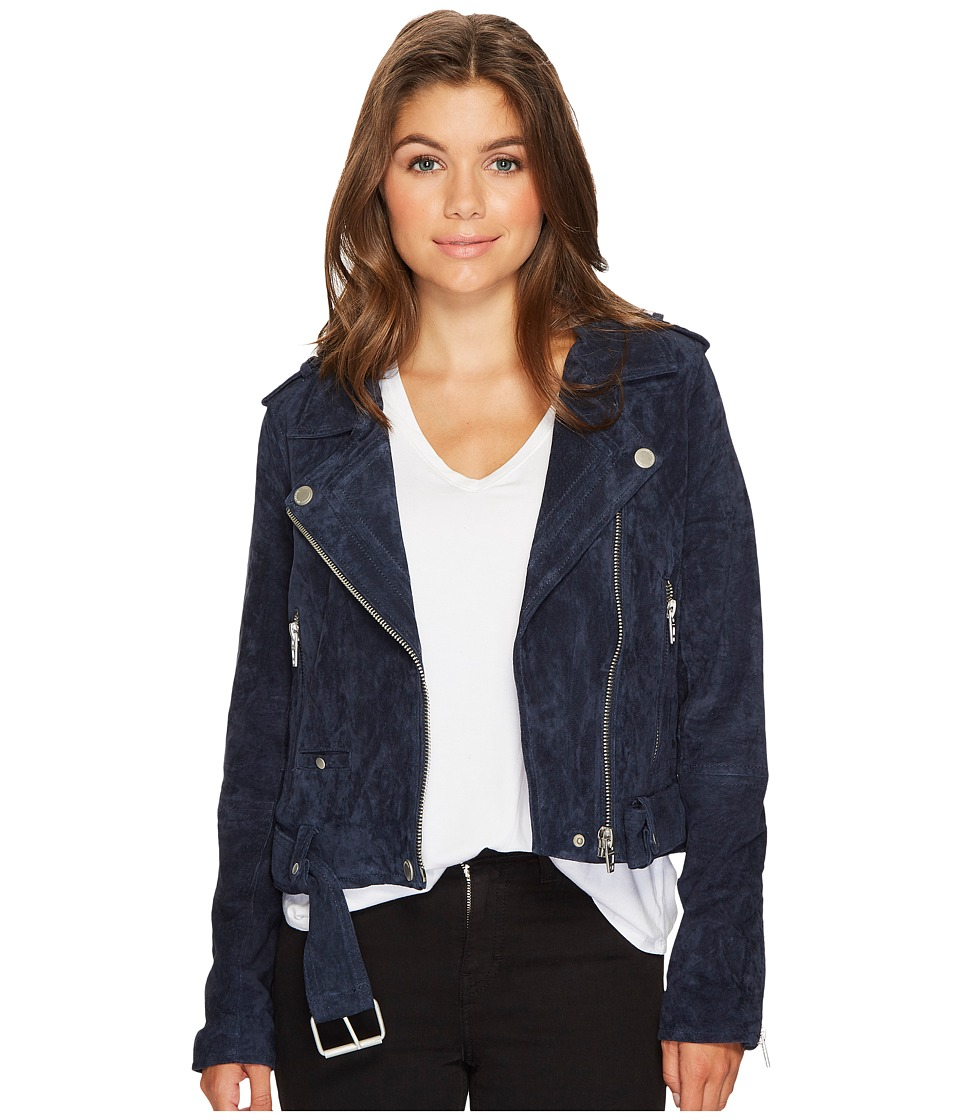 Blank NYC - Navy Blue Moto Jacket in Blue Valentine (Blue...